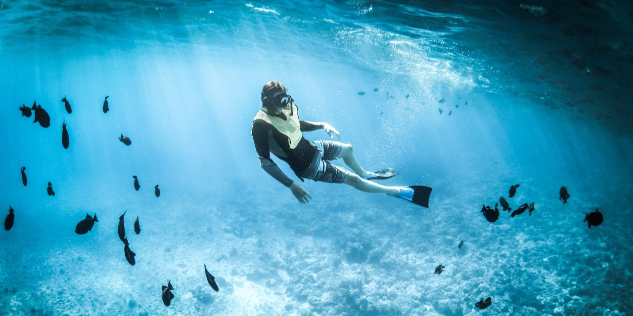 snorkeling in st Barth